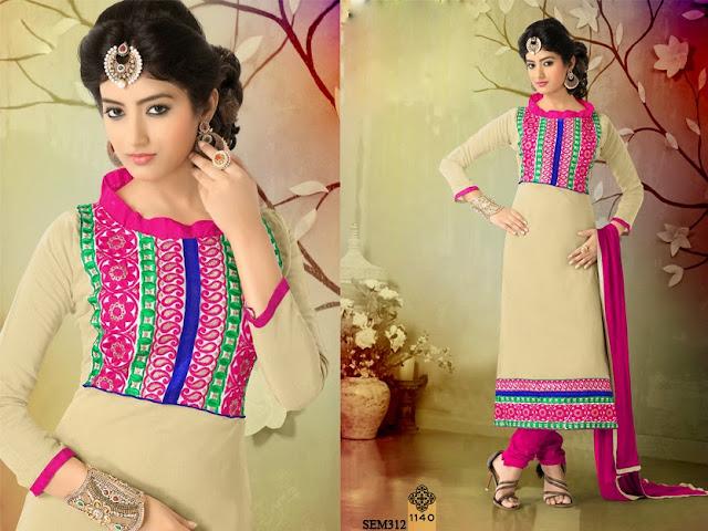 Buy New Embroidery Neck Long Length Salwar Kameez