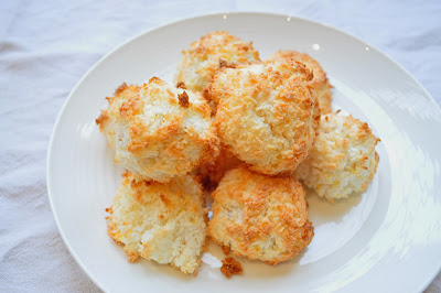 Lemon and Ginger Coconut macaroons.
