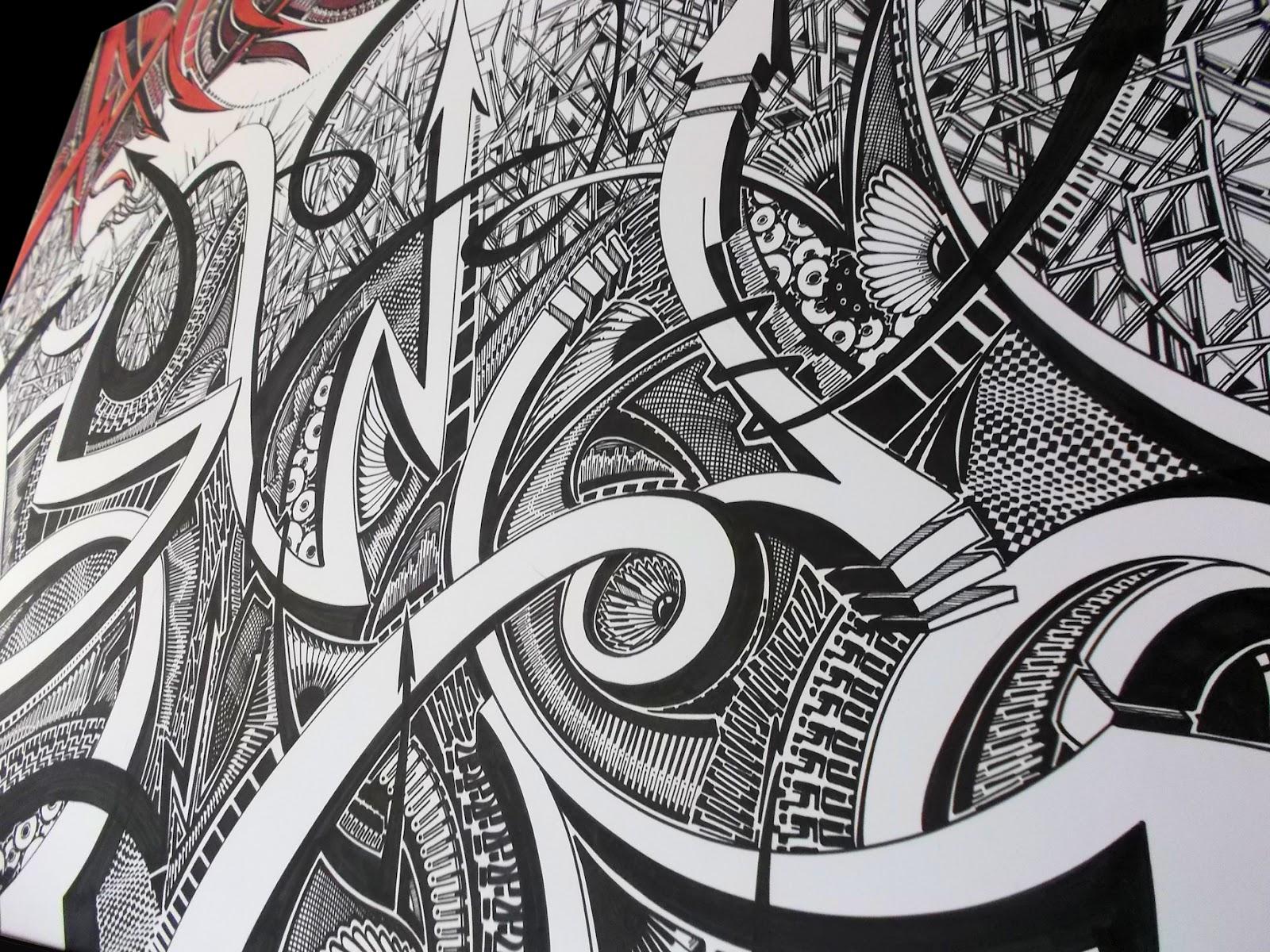 Pinstripe Chris NEW Sharpie Art Piece Finshed amp For Sale