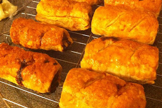 Stitch and Bear - Freshly baked pork, apple & red onion sausage rolls