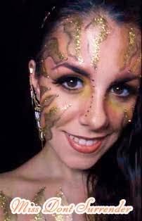 Maquillaje Hada del Sol con purpurina