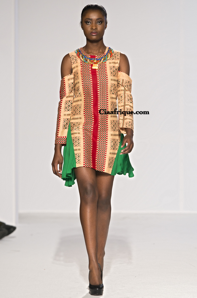 Labo-ethnik 2012:Chichia london-African fashion style kitenge and khanga dress