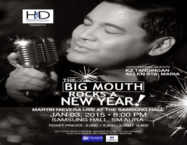 Martin Nievera, Latest OPM Songs, OPM, Music Video, Lyrics,The Big Mouth Rocks,New Year Concert, SM Taguig City,OPM Hits
