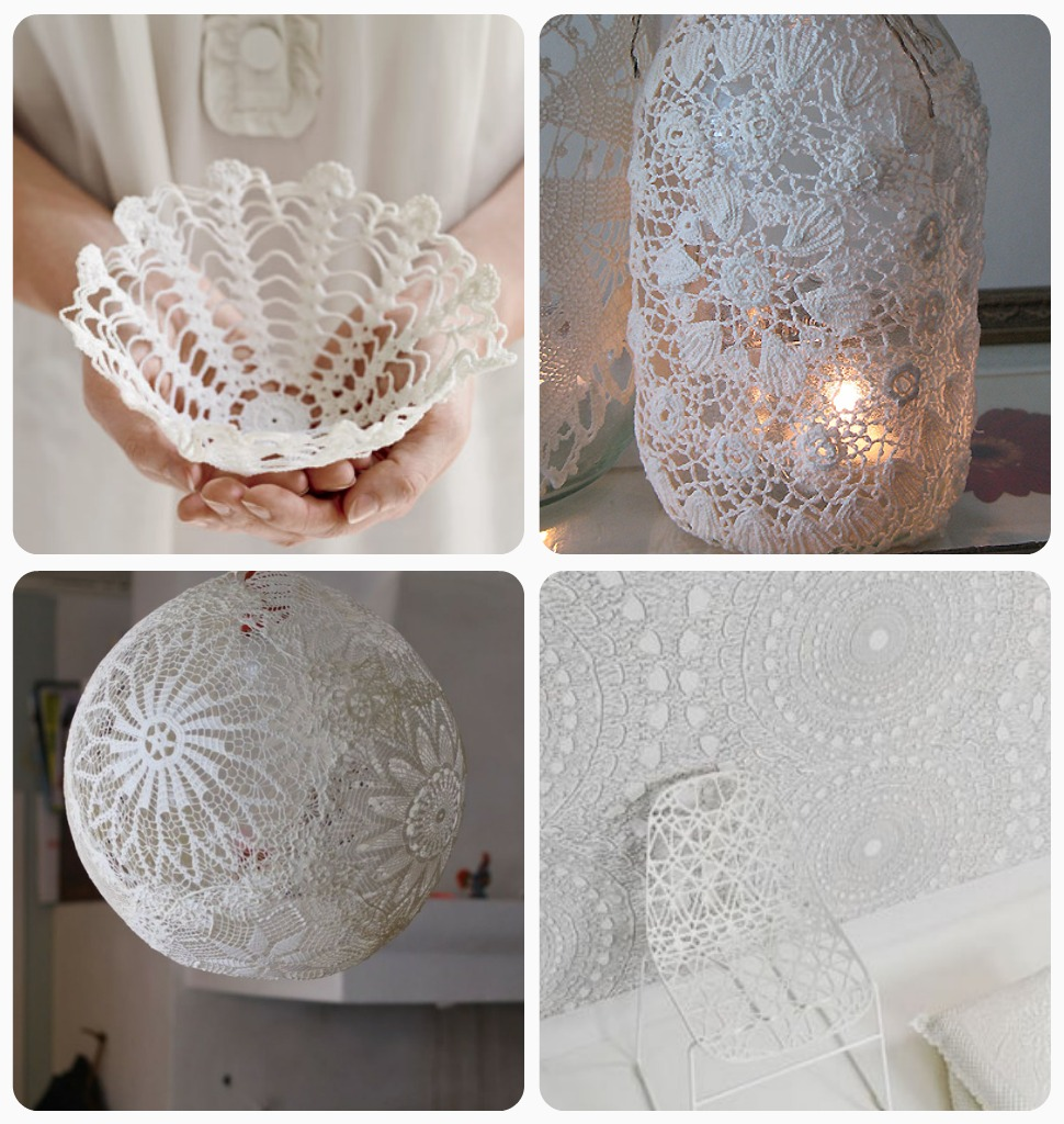 DIY Crafts with Doilies