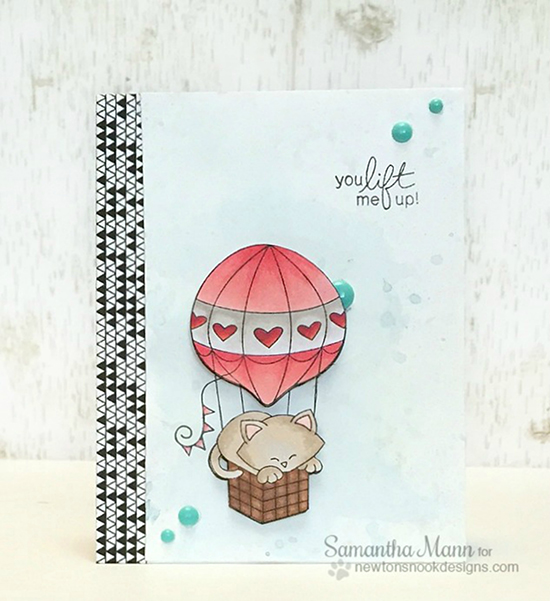 You Lift Me Up Card by Samantha Mann | Newton Dreams of Paris stamp set by Newton's Nook Designs