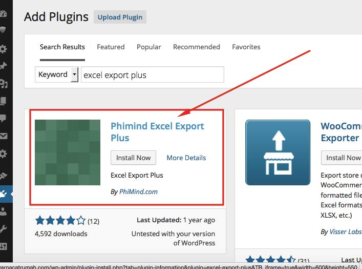 Cara Export Wordpres ke Excel