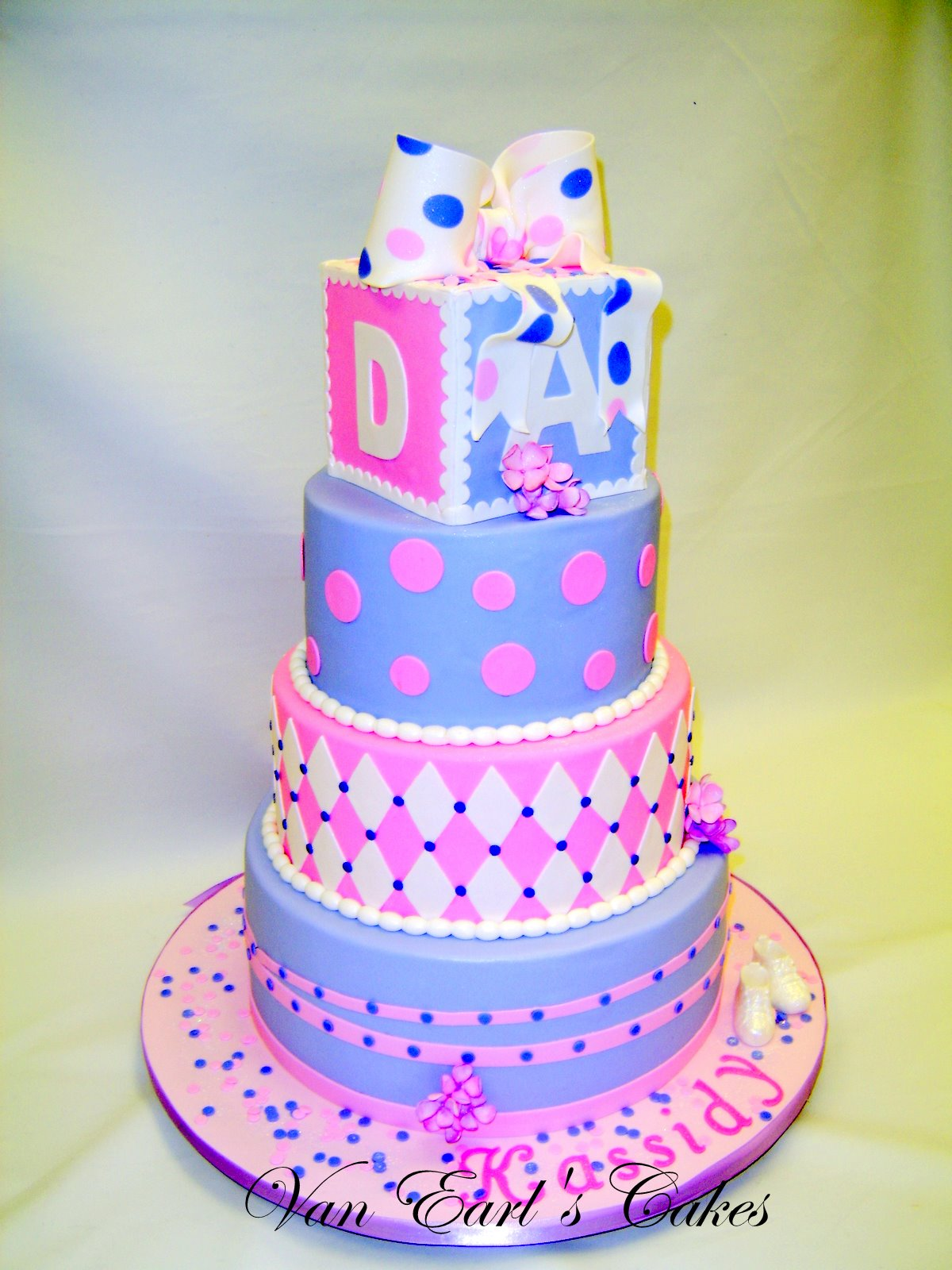 van earl 39 s cakes purple pink baby shower cake
