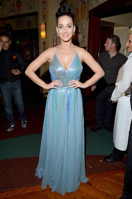 Katy Perry Sparkles In Low-Cut Dress show off her sexy breast cleavage At Grammys After-Party