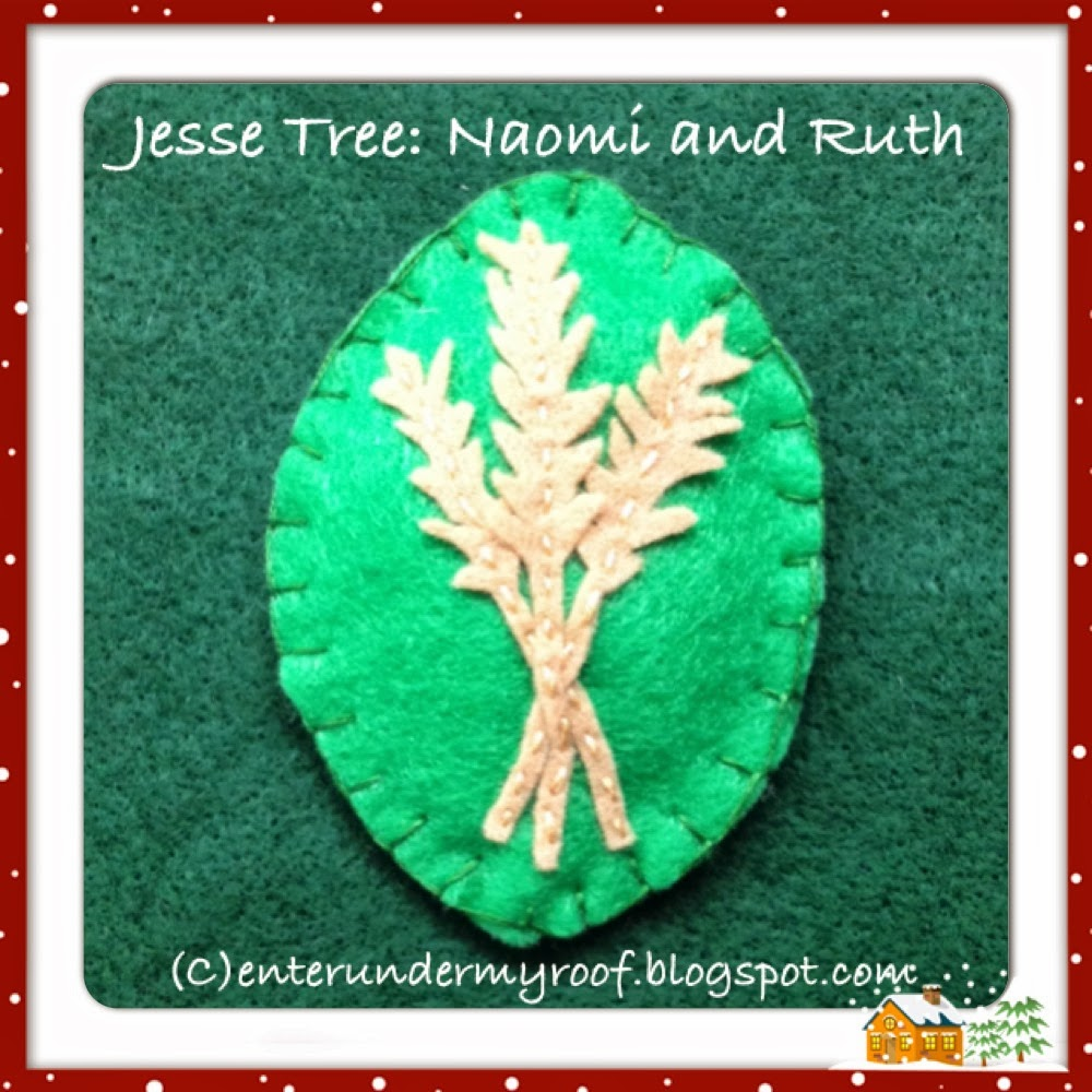 jesse tree ornament templates - jesse tree ornaments naomi and ruth faith and fabric