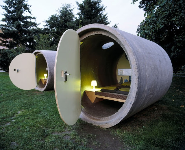 Unusual Hotel - Drain Pipe Hotel