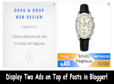 Display-Two-Ads-on-Top-of-Posts-in-Blogger