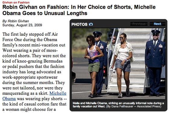 Michelle Obama style Robin Givhan