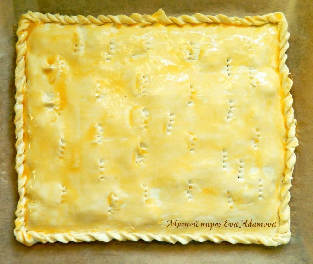 Тесто для мясного пирога с фото пошагово в духовке