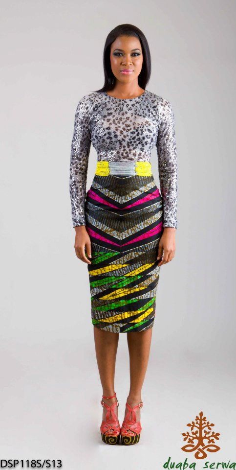 collection de pagne africain, Duaba serwa kitenge and ankara dress