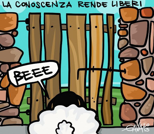 satira gava gavavenezia vignette satira ridere piangere pensare caricature pecora irlanda beee muro cancello catenaccio morte libertà conoscenza informazione intelligenza