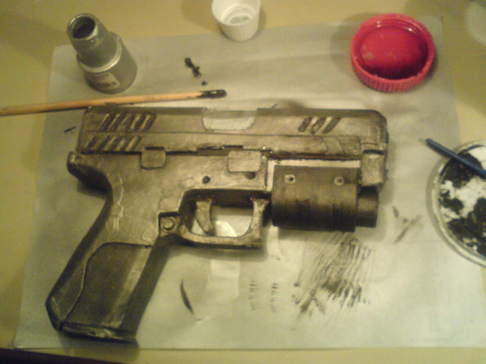 Pistola Blacktail - Resident Evil DSC04492