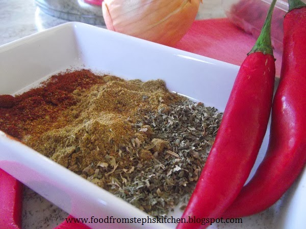 Herbs and spices for Steph's chilli mince - Steph's Kitchen