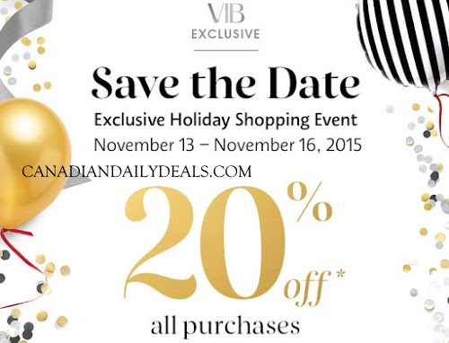 Sephora VIB 20% Off Exclusive Holiday Shopping Event