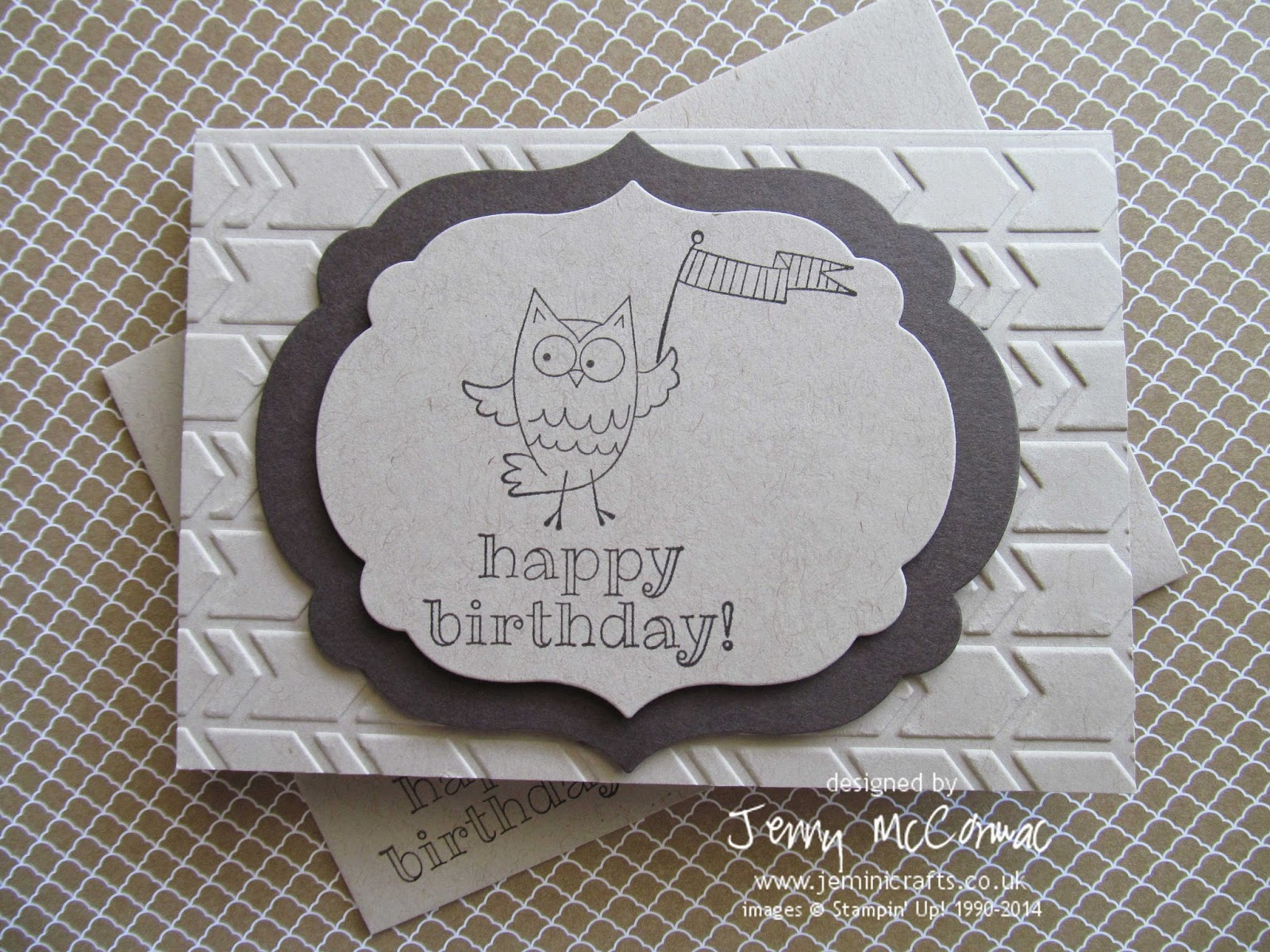 Owl Birthday Card www.jeminicrafts.co.uk Stampin' Up