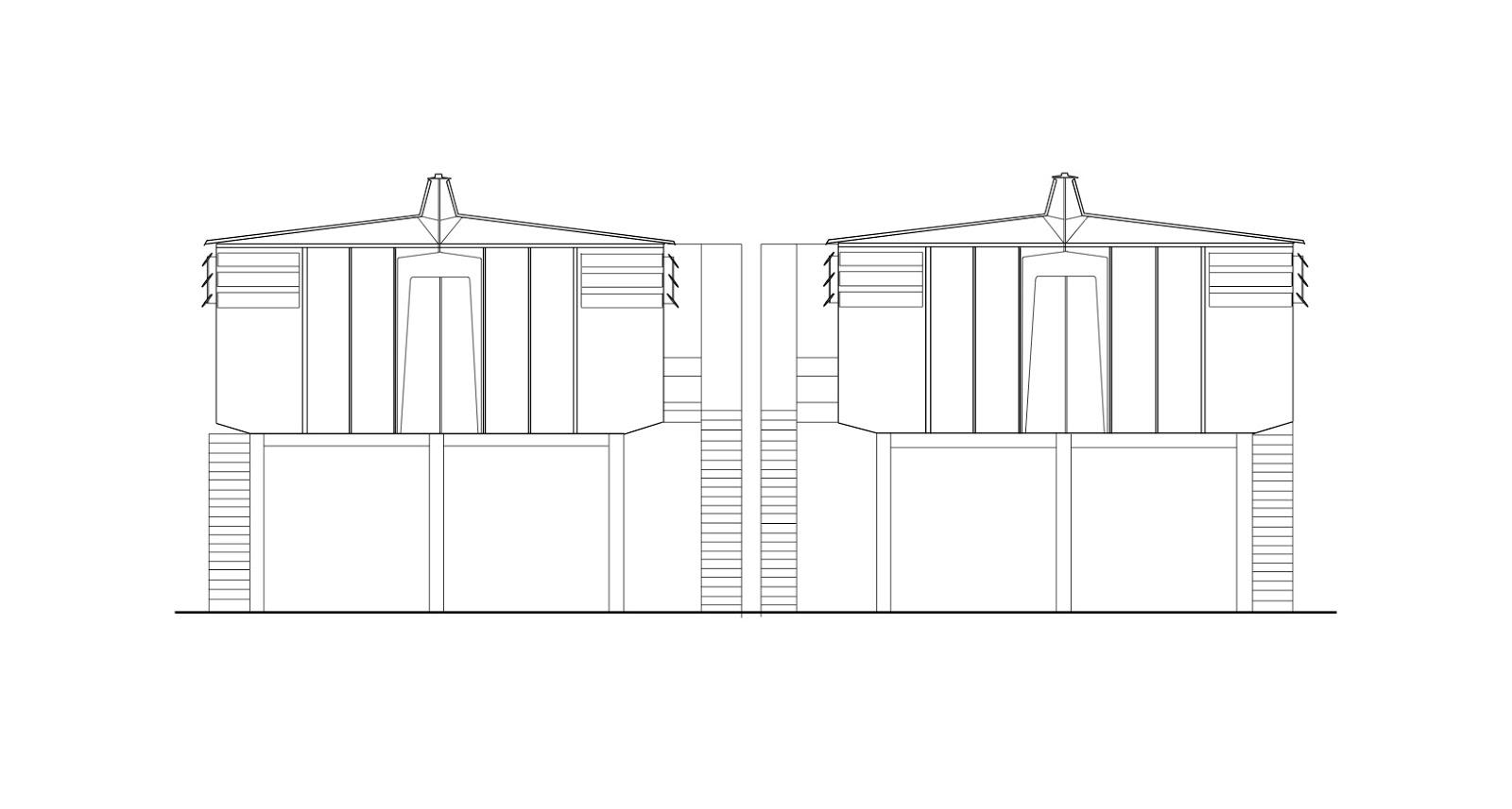 Maison tropicale drawings - Plan maison tropicale gratuit ...