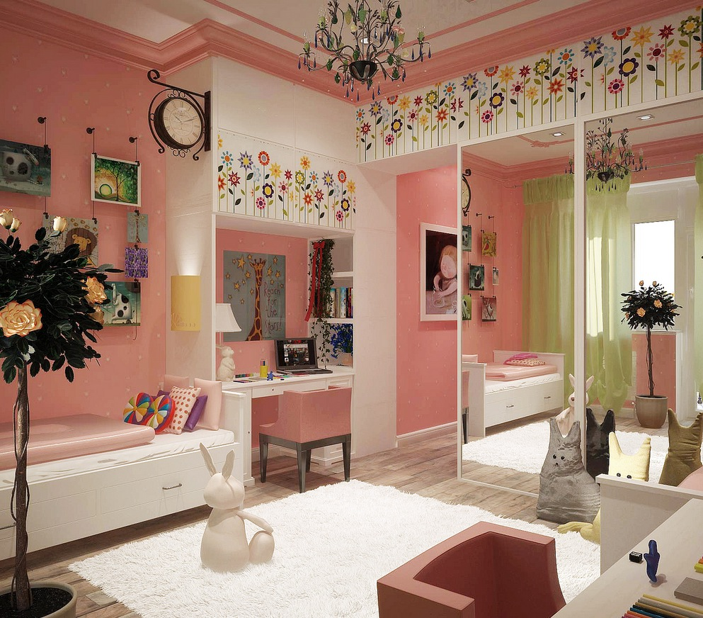 Luxurious Awesome Girls Bed Room