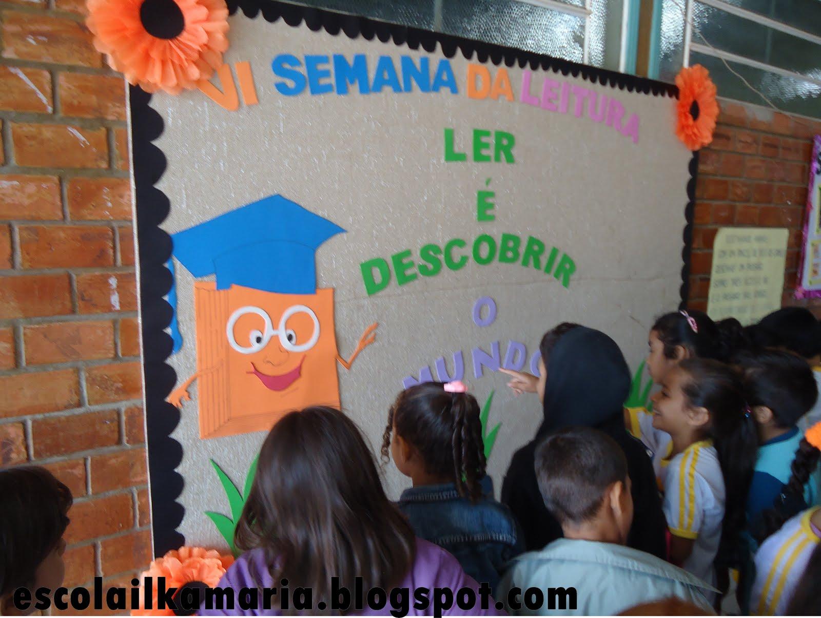 decoracao sala de leitura na escola: mês de abril e culminou nas atividades de encerramento do semestre