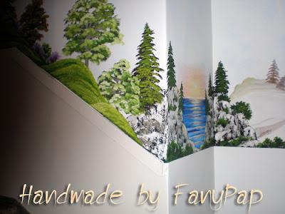 Τοιχογραφία με τοπίο σε είσοδο