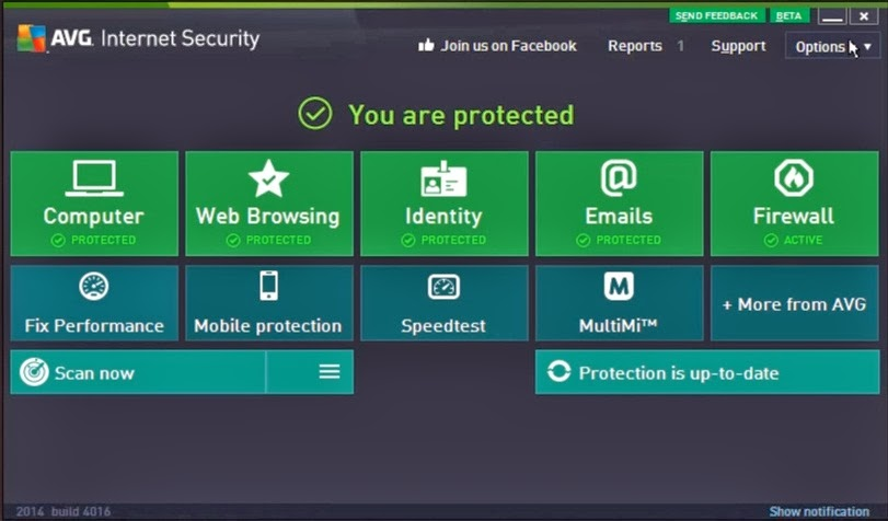 Update Serial Key Number AVG Antivirus 2014