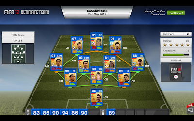 Spanish Liga BBVA TOTY - FIFA 12 Ultimate Team