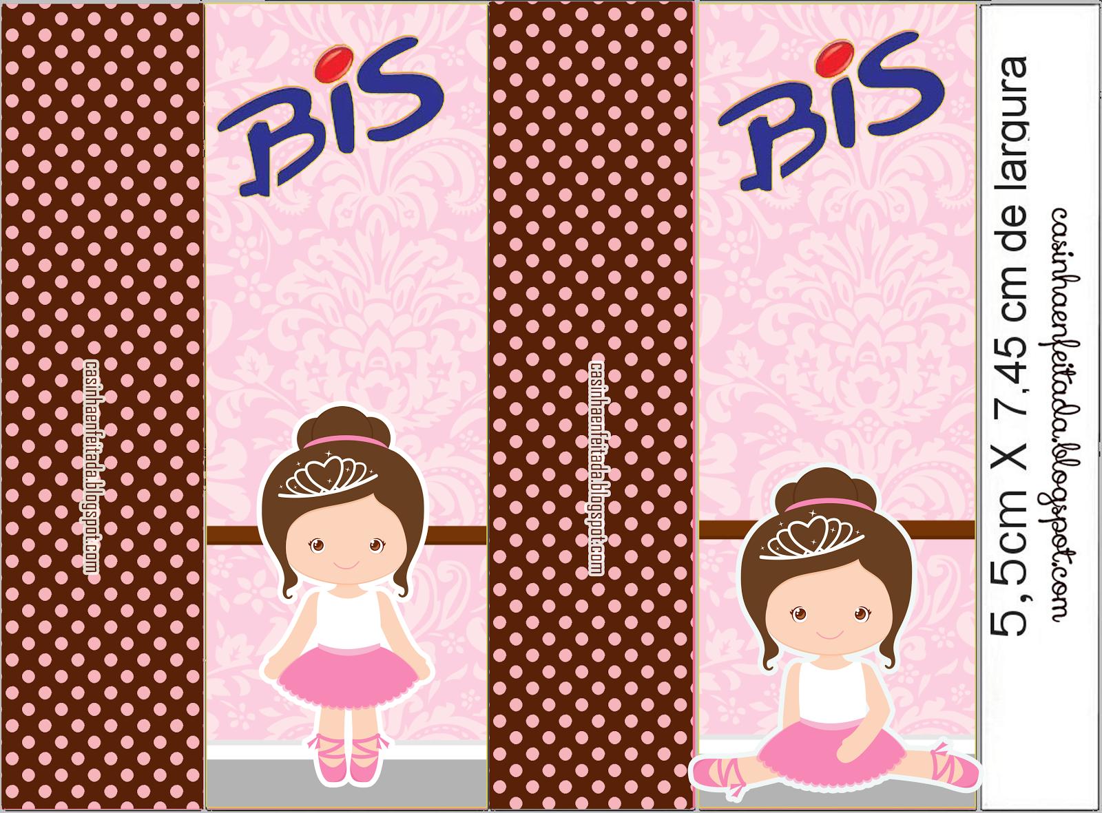 Casinha de Criança: Kit Festa Bailarina Marrom e Rosa Para Imprimir