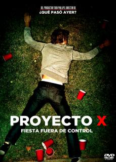 Carátula  Proyecto X película dvdrip latino