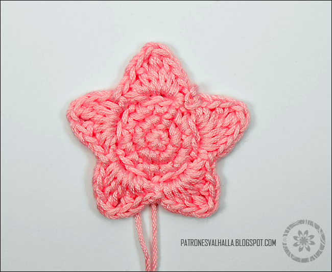 Estrella a Crochet #1 (foto-tutorial) - PATRONES VALHALLA: Patrones ...