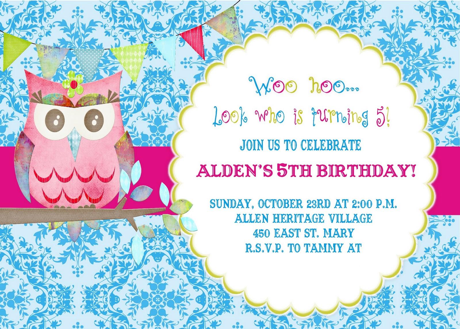 owl wedding invitation template