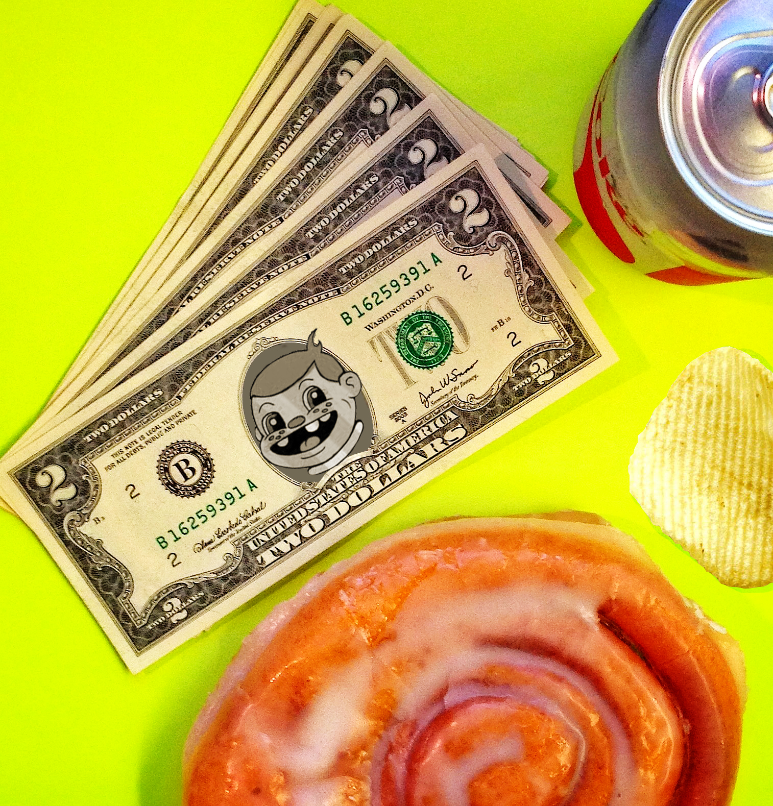 USD $2 Dollar Bill: Snaxtime Official Currency
