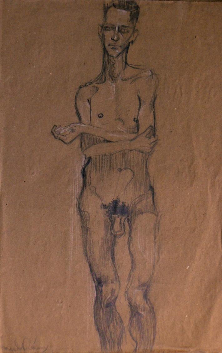 armando-prieto-perez-disegno-nudo-maschile-matita