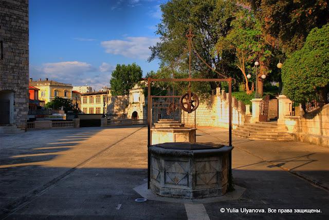 Площадь Пяти колодцев в Задаре. Хорватия