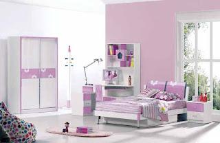 decoración juvenil lila cuarto