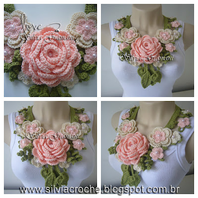 maxi colar, maxi colar de croche, maxi colar de flores, croche, colar de croche, colar feminino, moda, joia