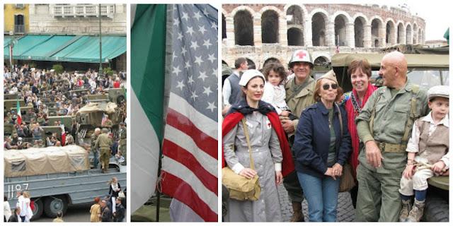photo of: Enactment of Verona Italy Liberation