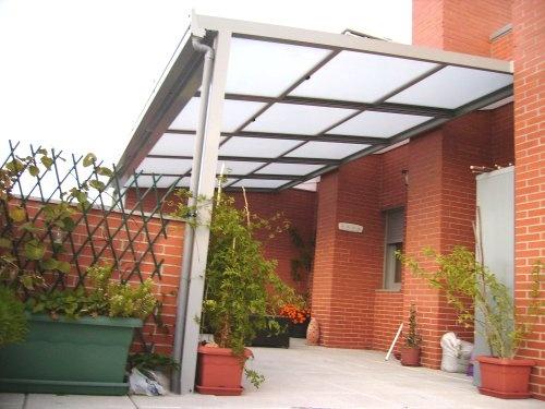 Techo movil con toldo exterior en madrid cerramientos y for Techo piscina cubierta