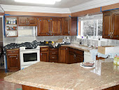 CUSTOM KITCHEN CABINET REFINISHING  AND GRANITE TOP
