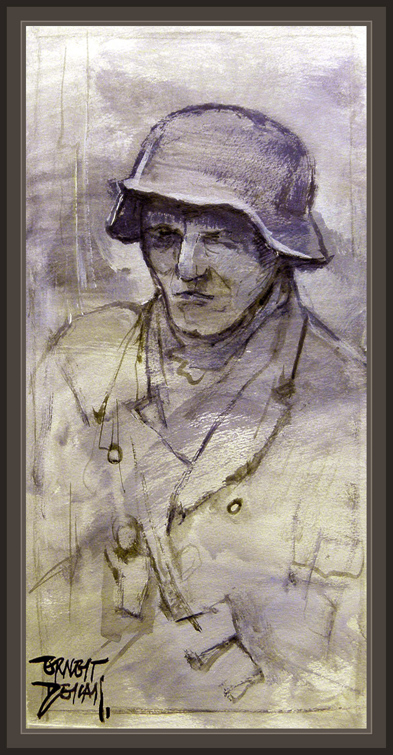 GERMAN SOLDIERS-WW2-GERMANY-ART-PINTURA-ARTE-SOLDADOS-ALEMANIA-PINTOR-ERNEST DESCALS
