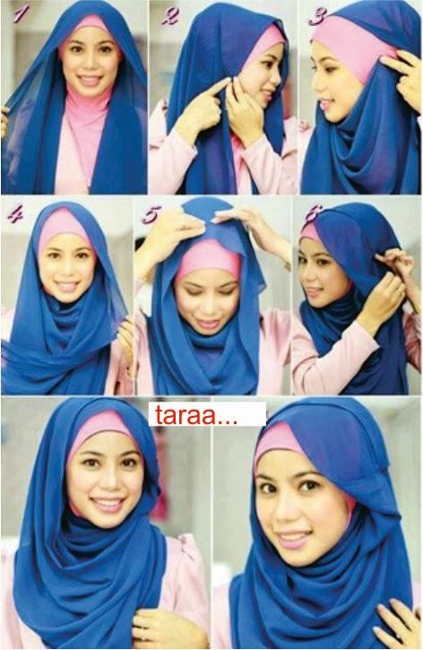 Tutorial Hijab 2 - Pashmina Segi Empat