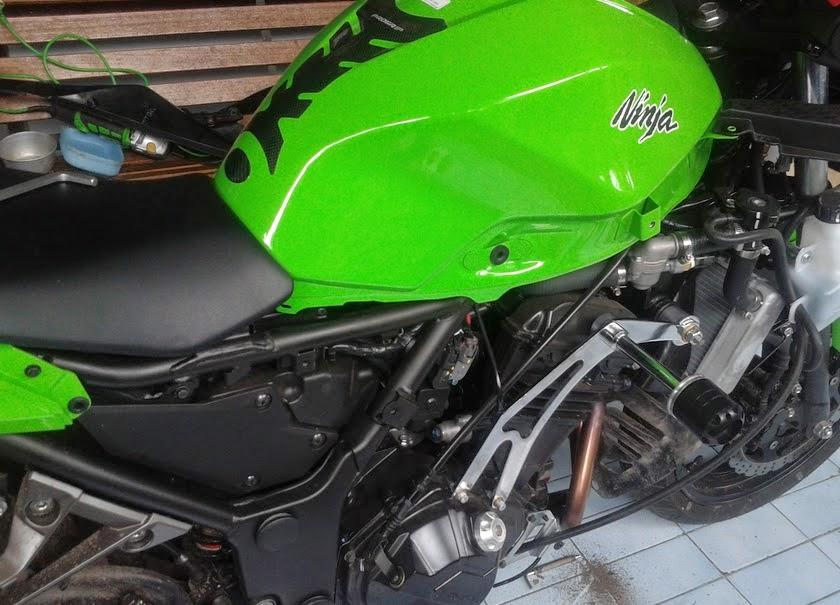 Modifikasi Ninja 250 - Keamanan Body Motor