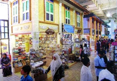 The Jonker Street in Central Market is modelled after the one in Melaka, looked real authentic!