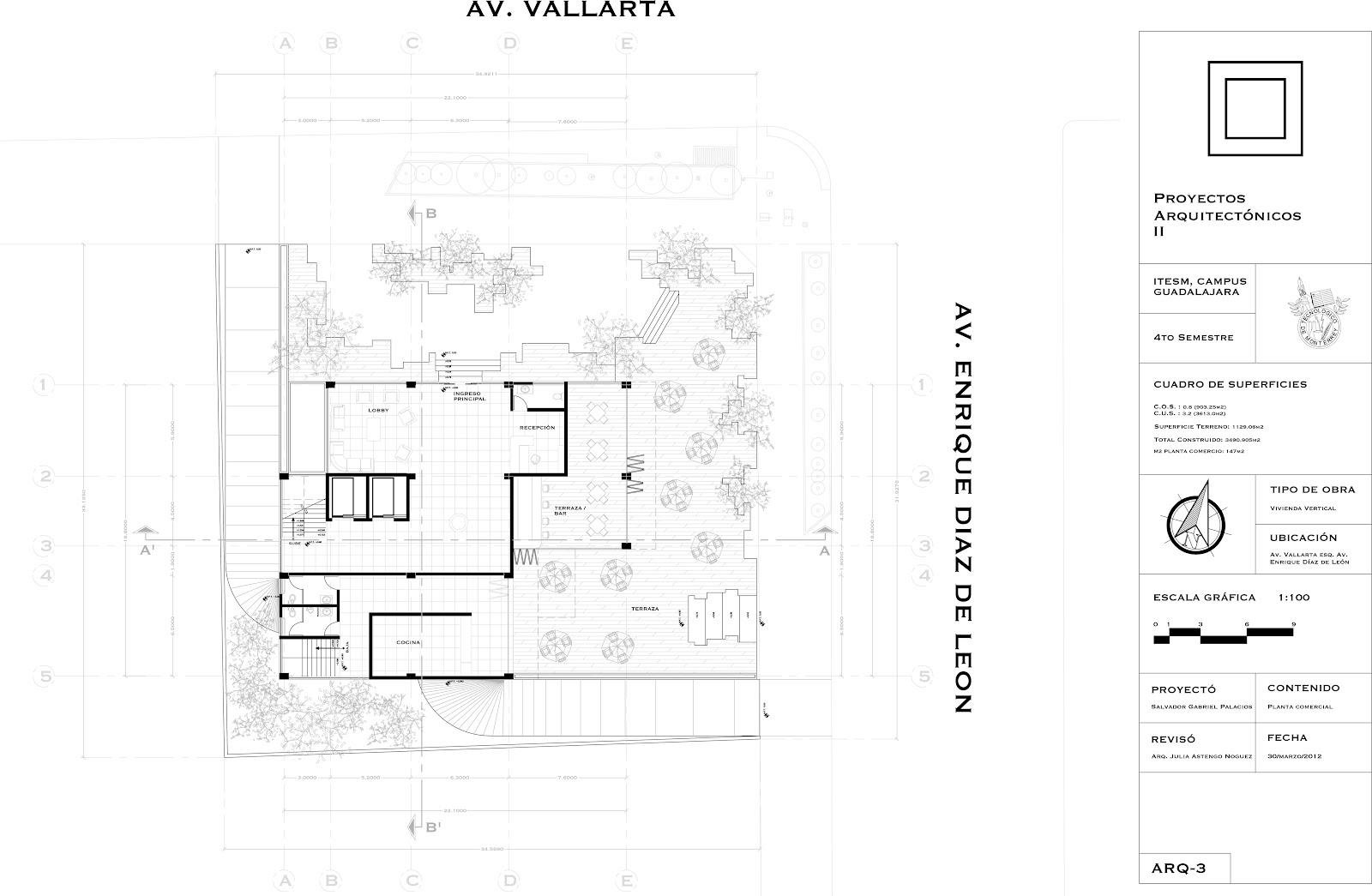 Arquitectura salvador g for Planos tecnicos arquitectonicos
