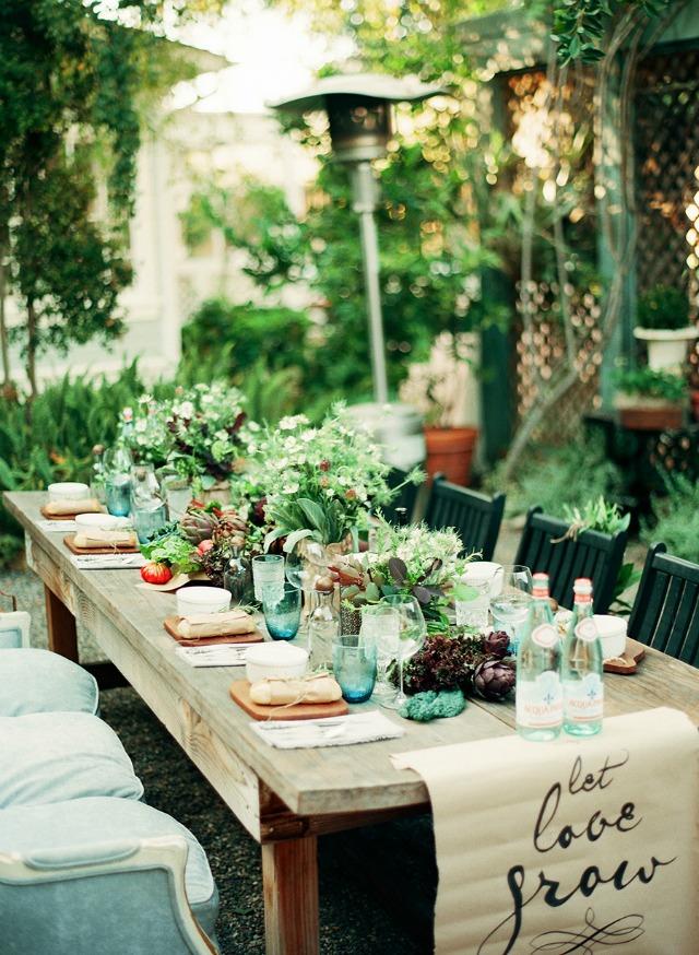Decorar mesa para comida familiar