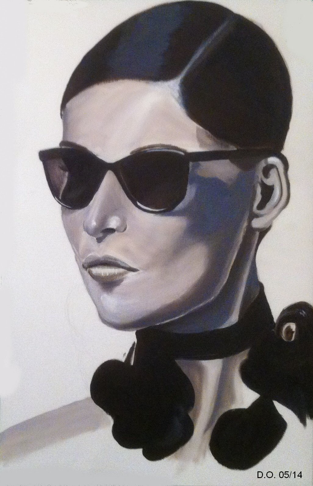 """painting """"femme de pub"""""""