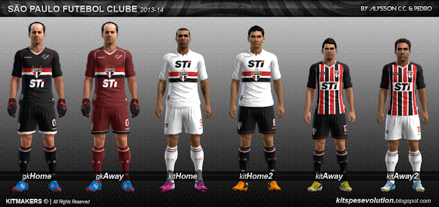 ... : Uniforme do São Paulo para sua temporada 2013 para PES 2013