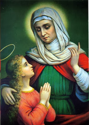 Santa Ana Junto a La Virgen Maria Niña